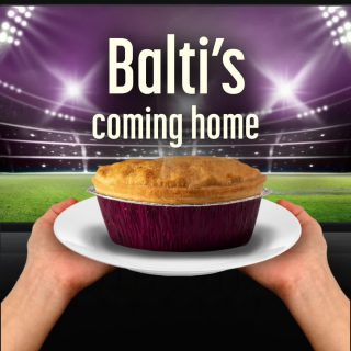 Balti's coming home.   Get match day ready now @Tescofood, @morrisons, @onestopstoresuk